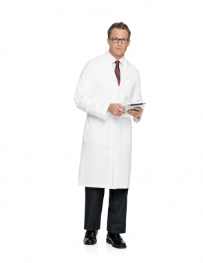Men's Lab Coat White 3138