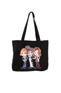T101 Break Time Tote Black Bag